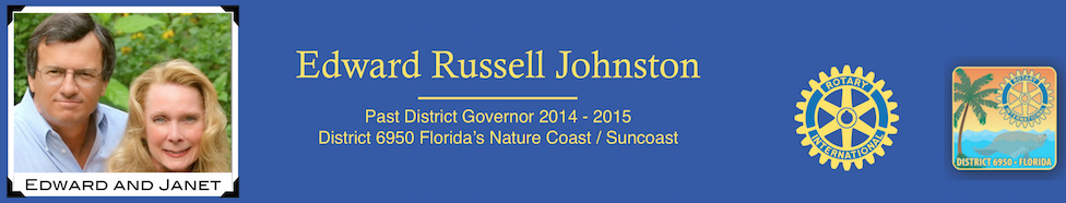 Edward Russell Johnston – District Governor 2014-2015
